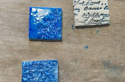 colouring your polymer clay tiles with alcohol ink