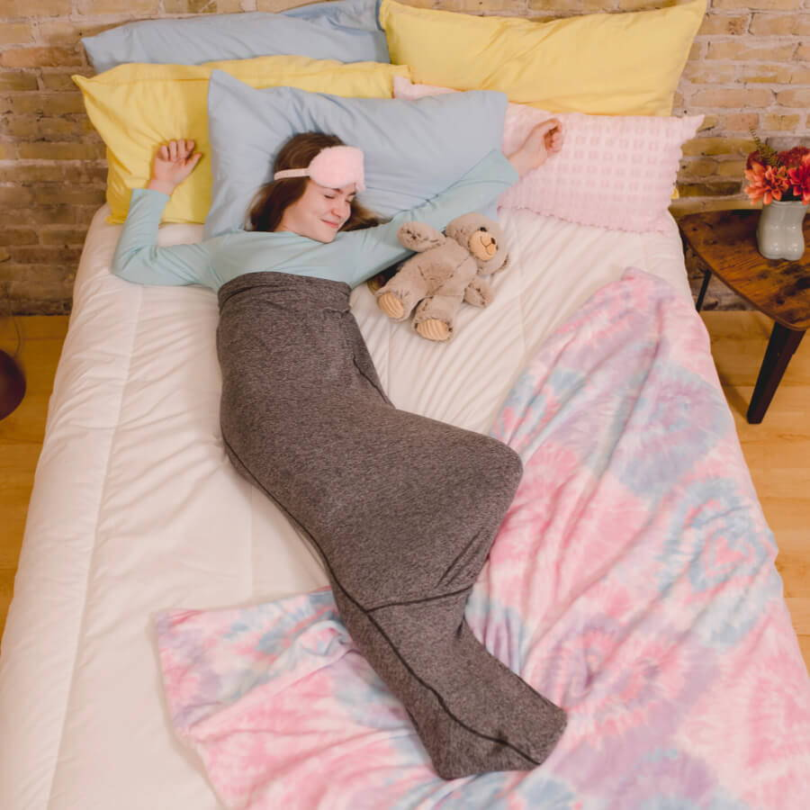 image of girl in sleep pod sleeping in bed