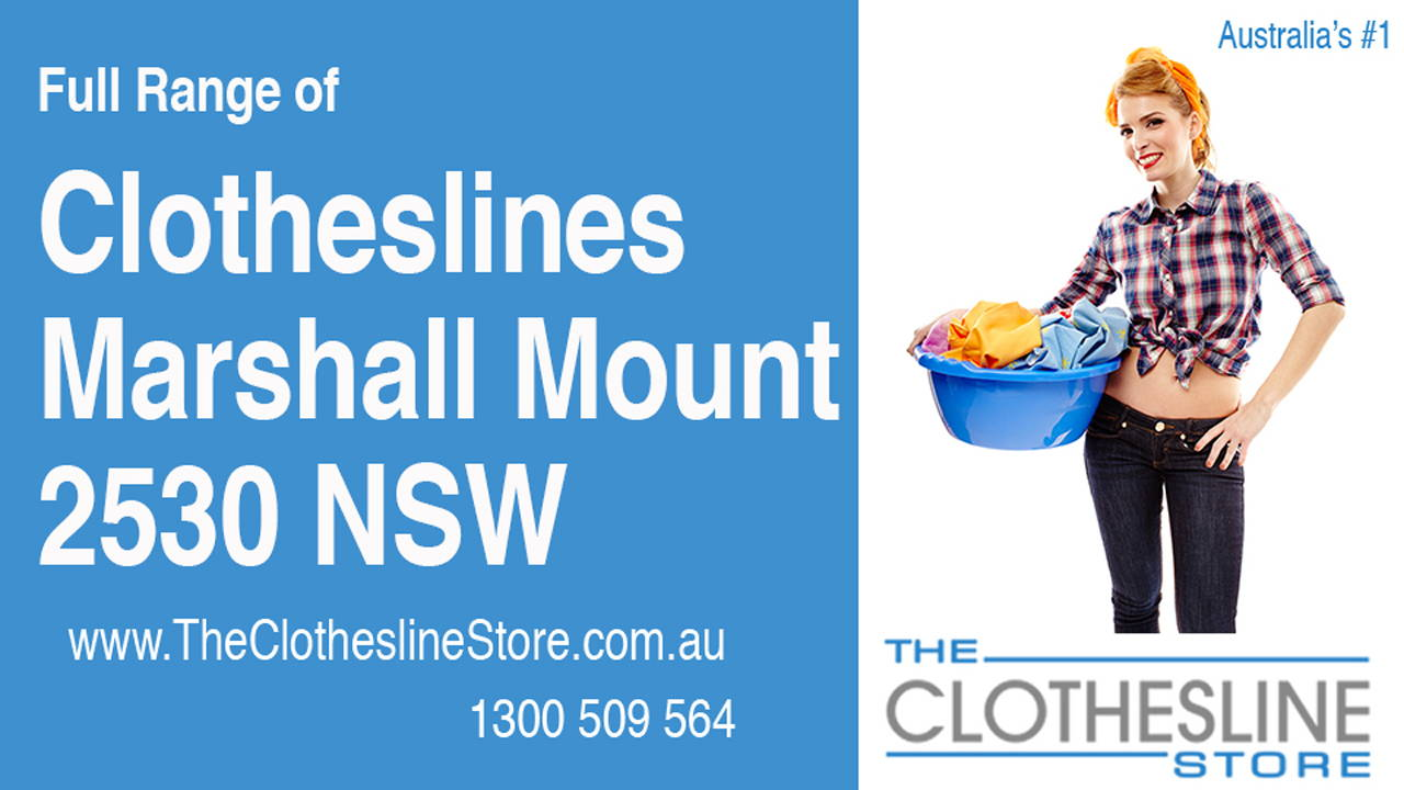 New Clotheslines in Marshall Mount 2530 NSW