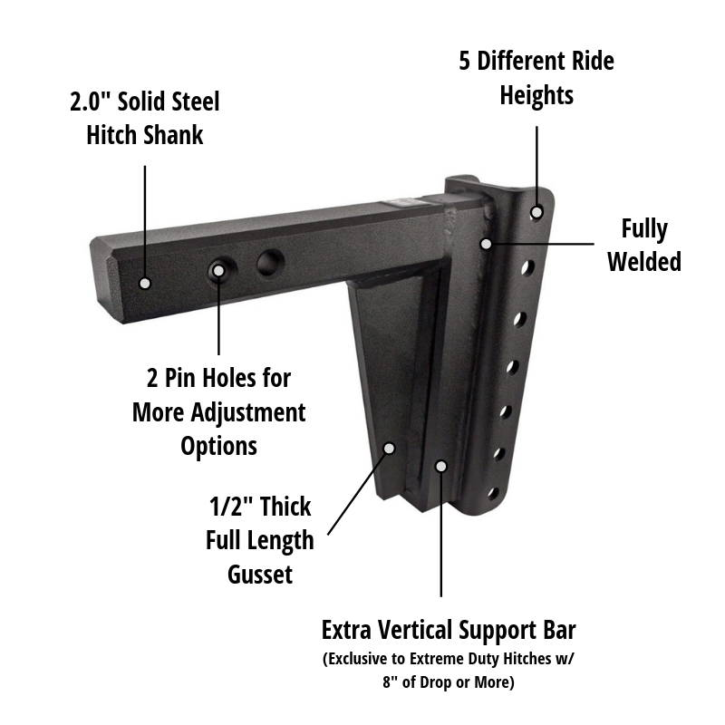 BulletProof Hitches - Solid Steel Shank