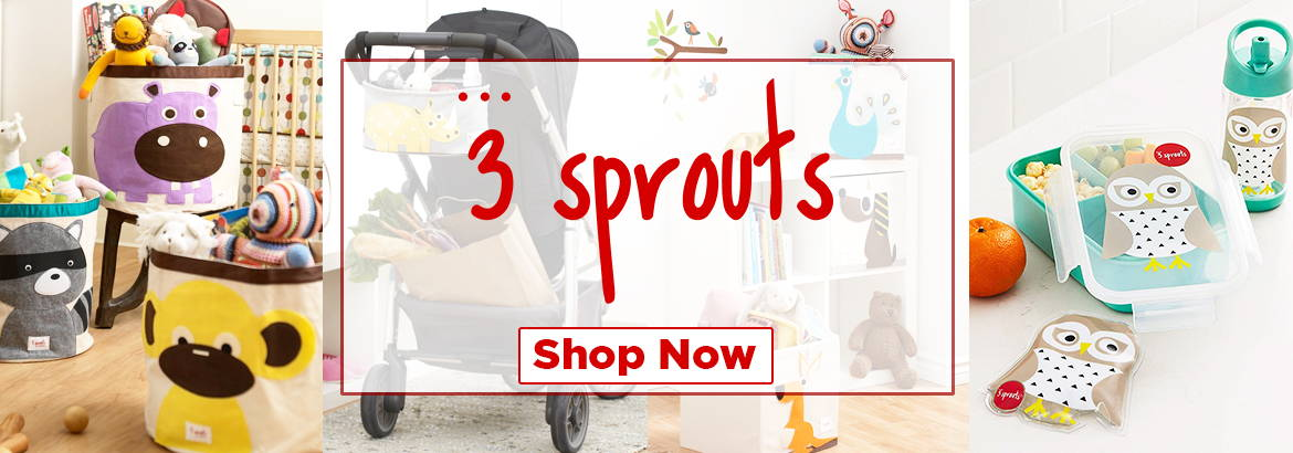 3 Sprouts creates well-designed baby and children's products including storage, organizers, play mats, lunch bags and hangers.