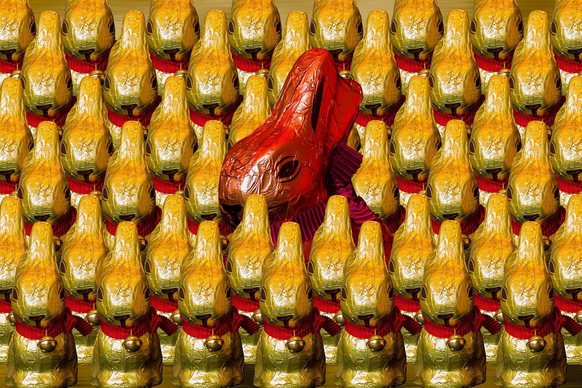 Red Bunny Easter Egg