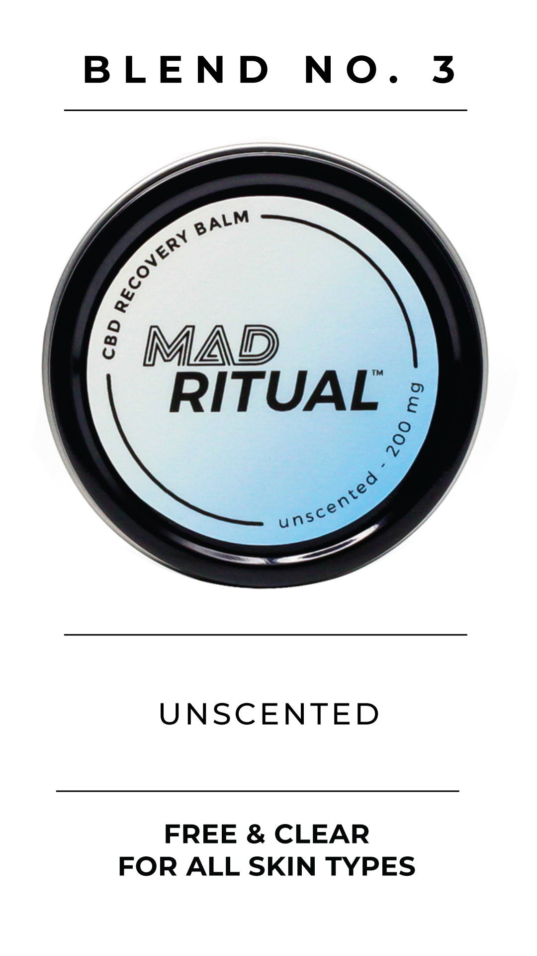 Unscented CBD Oil Muscle Balm