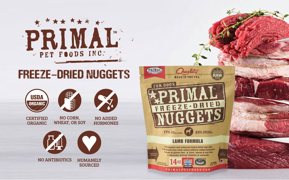 Primal Freeze Dried dog and cat food collection