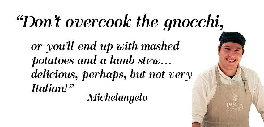 don't overcook gnocchi