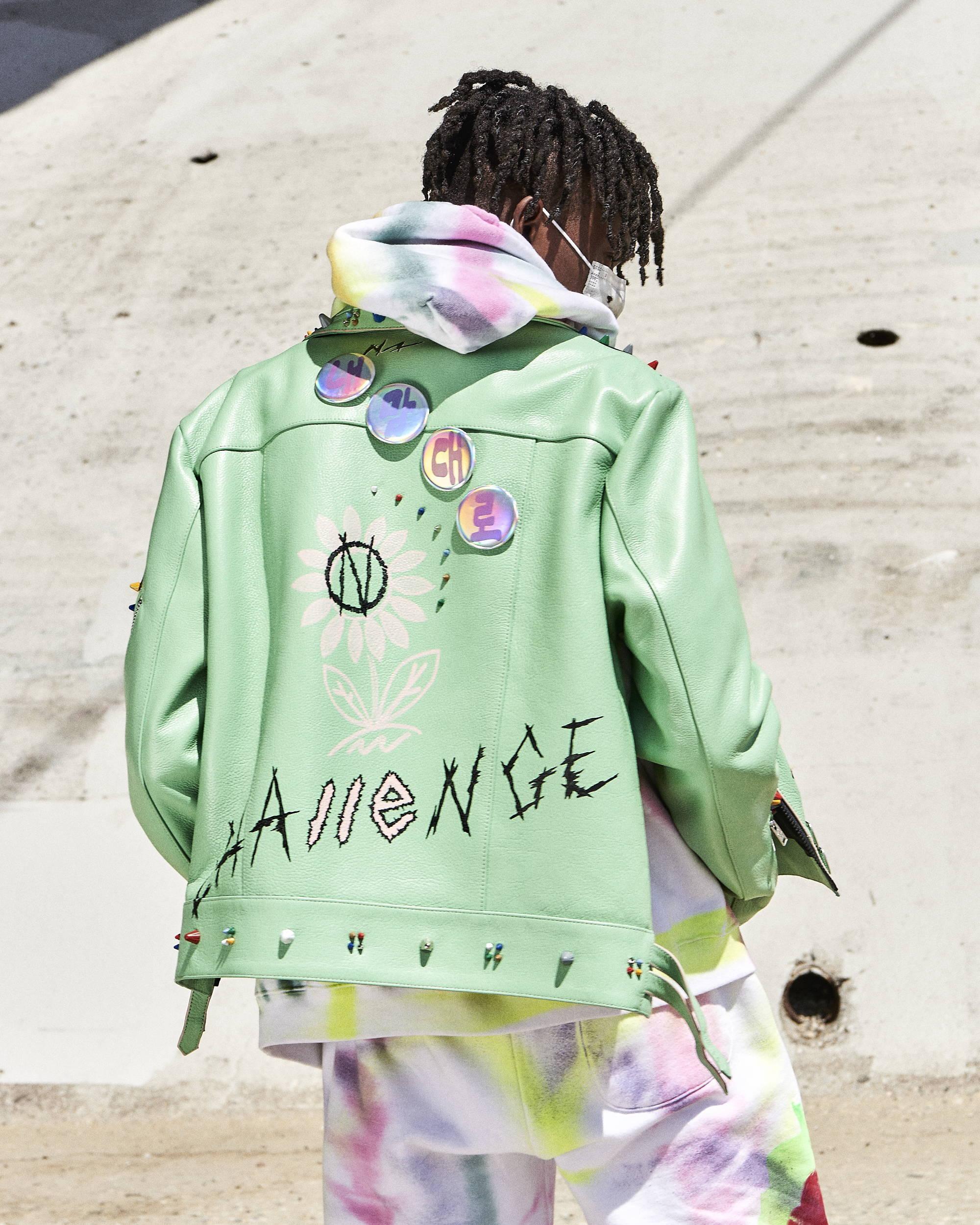 99% Exclusive Painted Leather Jacket - Hlorenzo