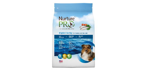 nurture pro original herring for active and young adult dry dog food