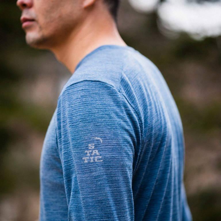 STATIC(スタティック)/オールエレベーションシャツ LS/ライトブルー/UNISEX