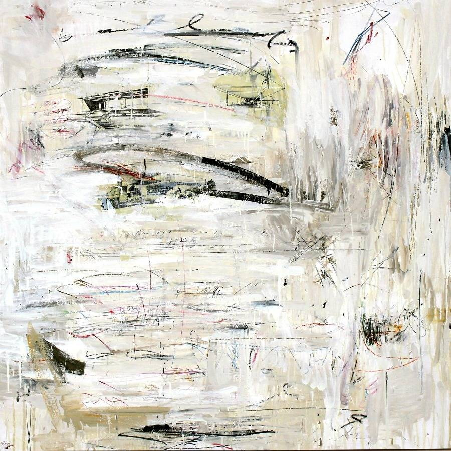 Mixed-media abstract expressionism by Stefan Heyer