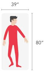 Twin XL size mattress dimensions - 39