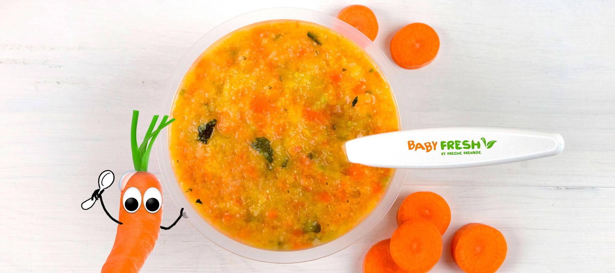 Möhre Karotte Baby Fresh Babynahrung Beikost Becher Beikostbecher