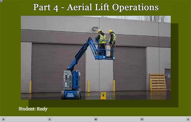 Aerial Lift E-Learning Training Operations