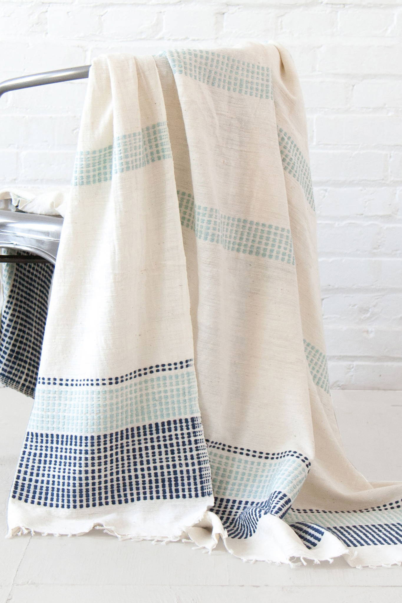 GABI ETHIOPIAN THROW BLANKET - NAVY $ 155