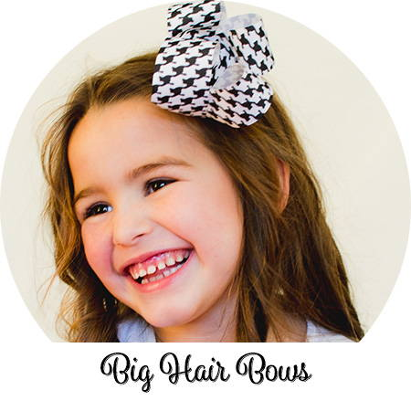 Big hair bows are oh so cute on toddlers and girls who like big bows!
