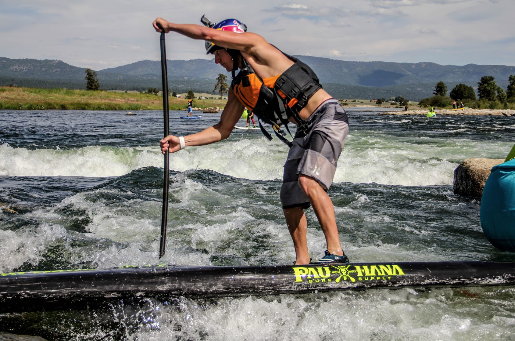 White water SUP racing
