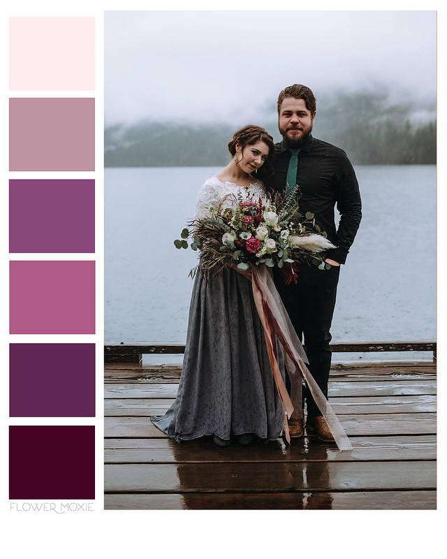 Dark Plum, Eggplant, and Moody Violet Wedding Flower Packages