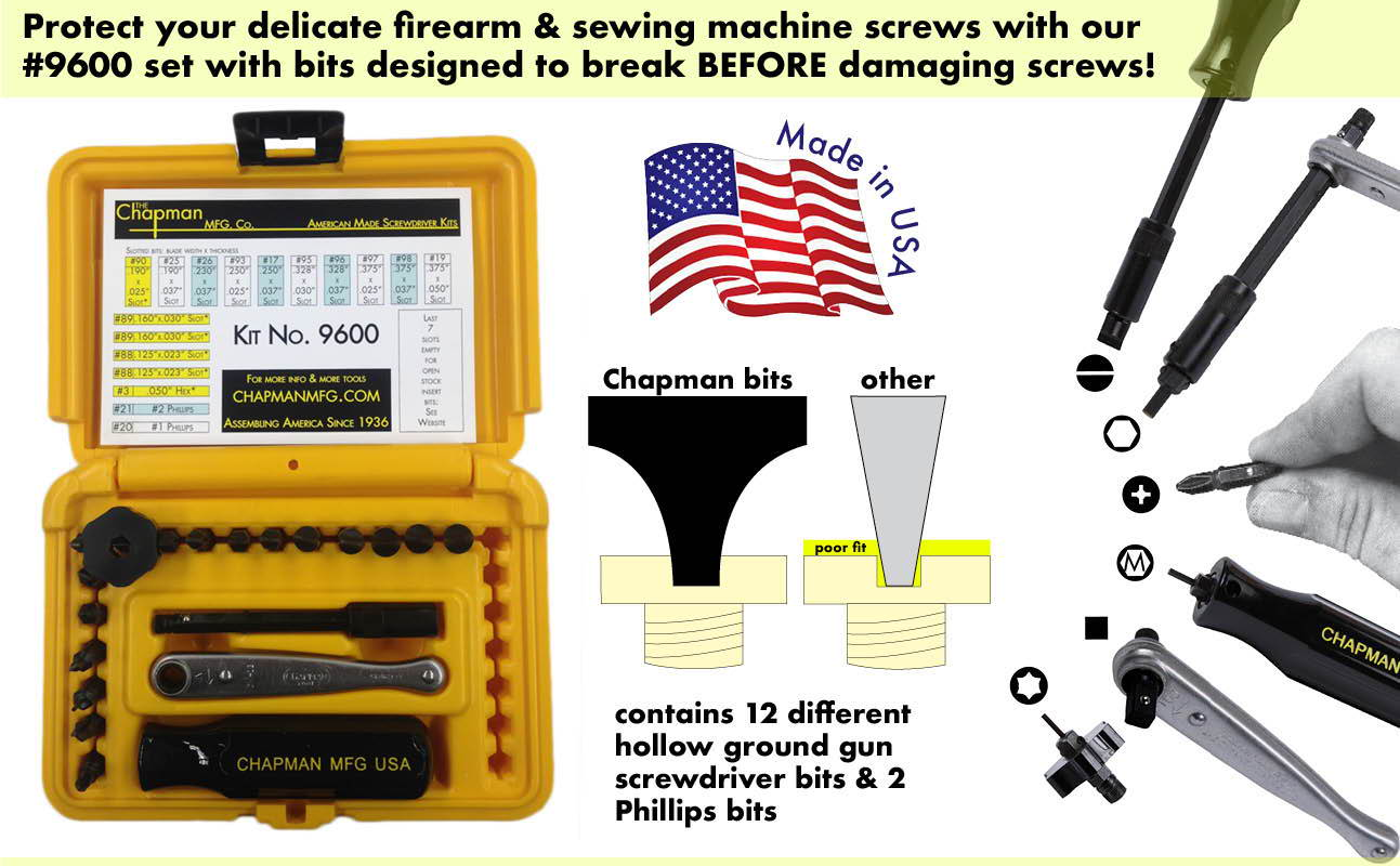 Gunsmithing Screwdriver Sets – Chapman Manufacturing