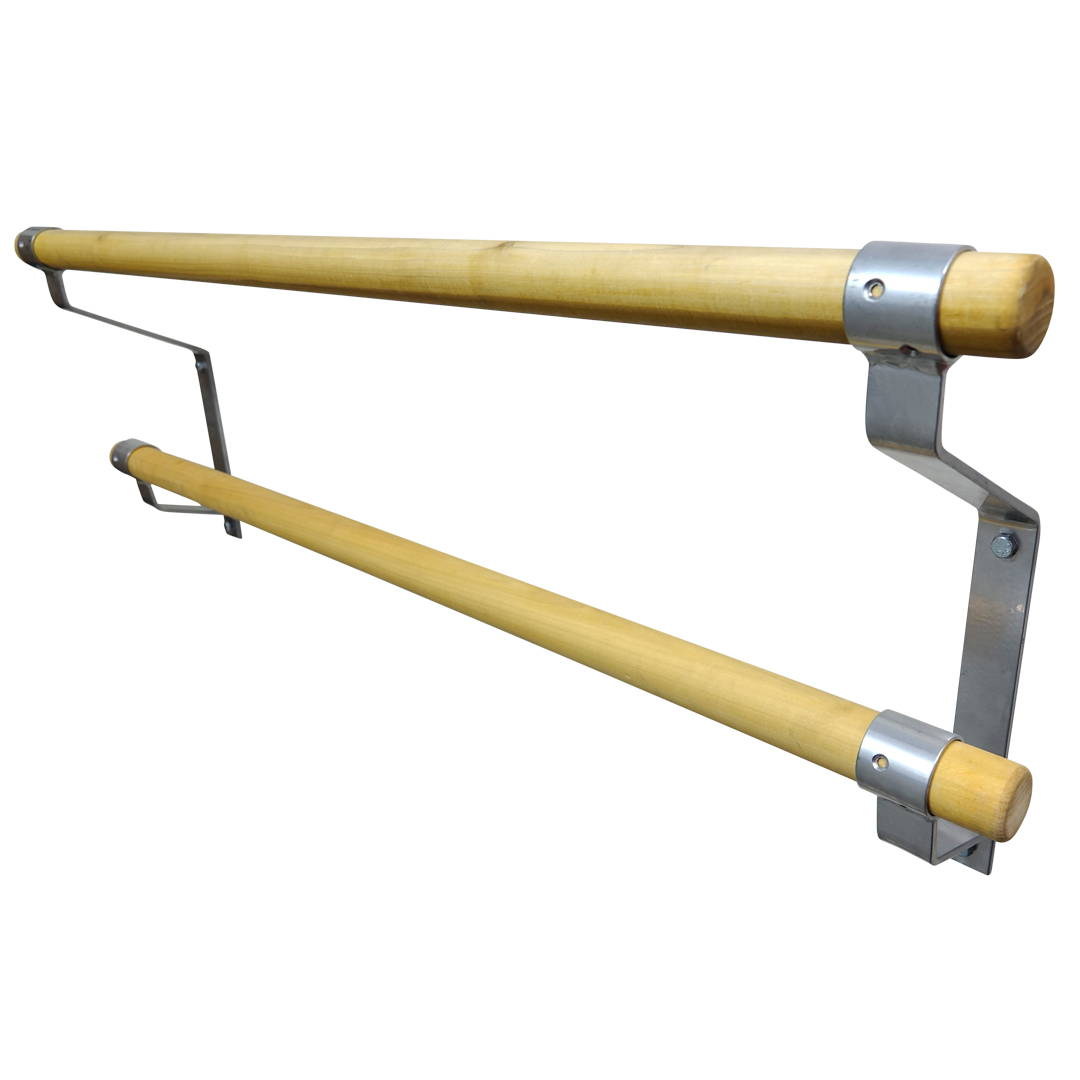 Non-Adjustable Double Wall Mounted Ballet Barre