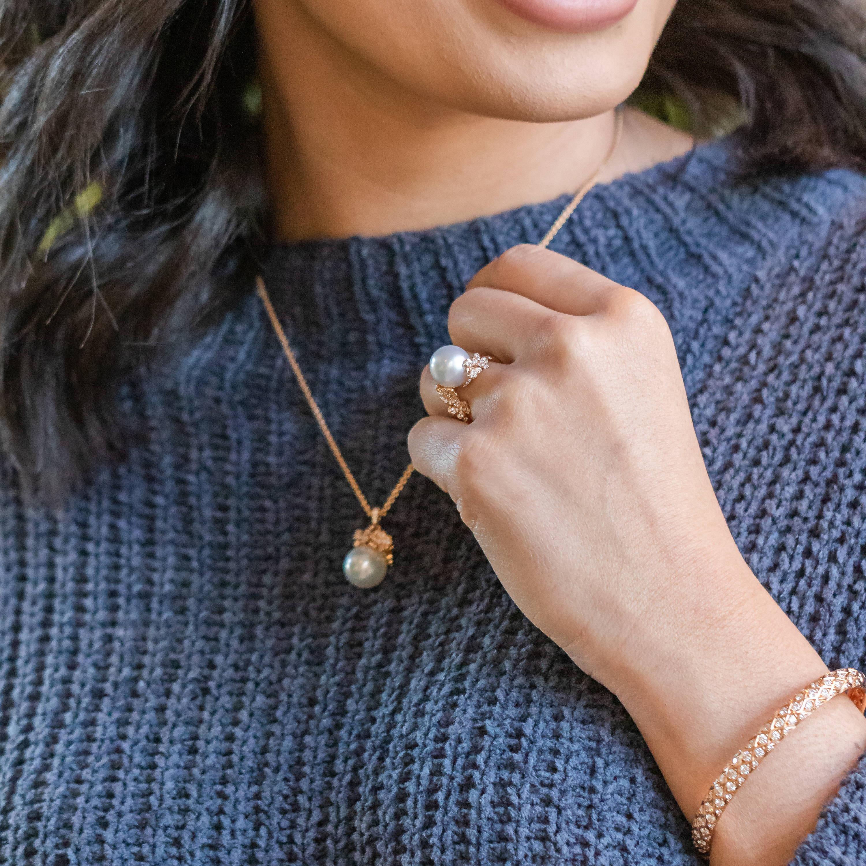 Rose Gold Bracelet, Ring and Necklace