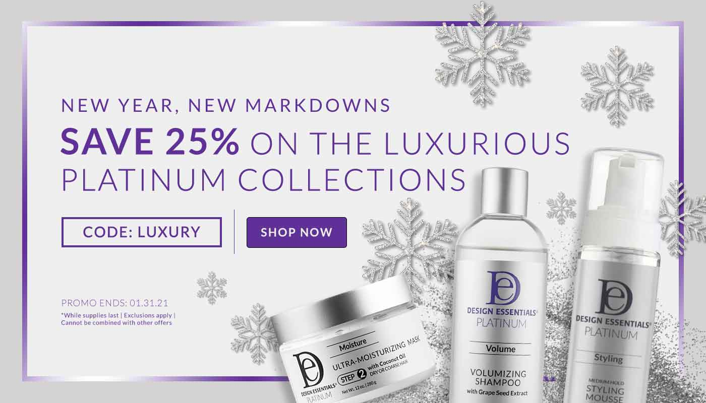 New Year New Markdowns Save 25% on Platinum Collections with code LUXURY