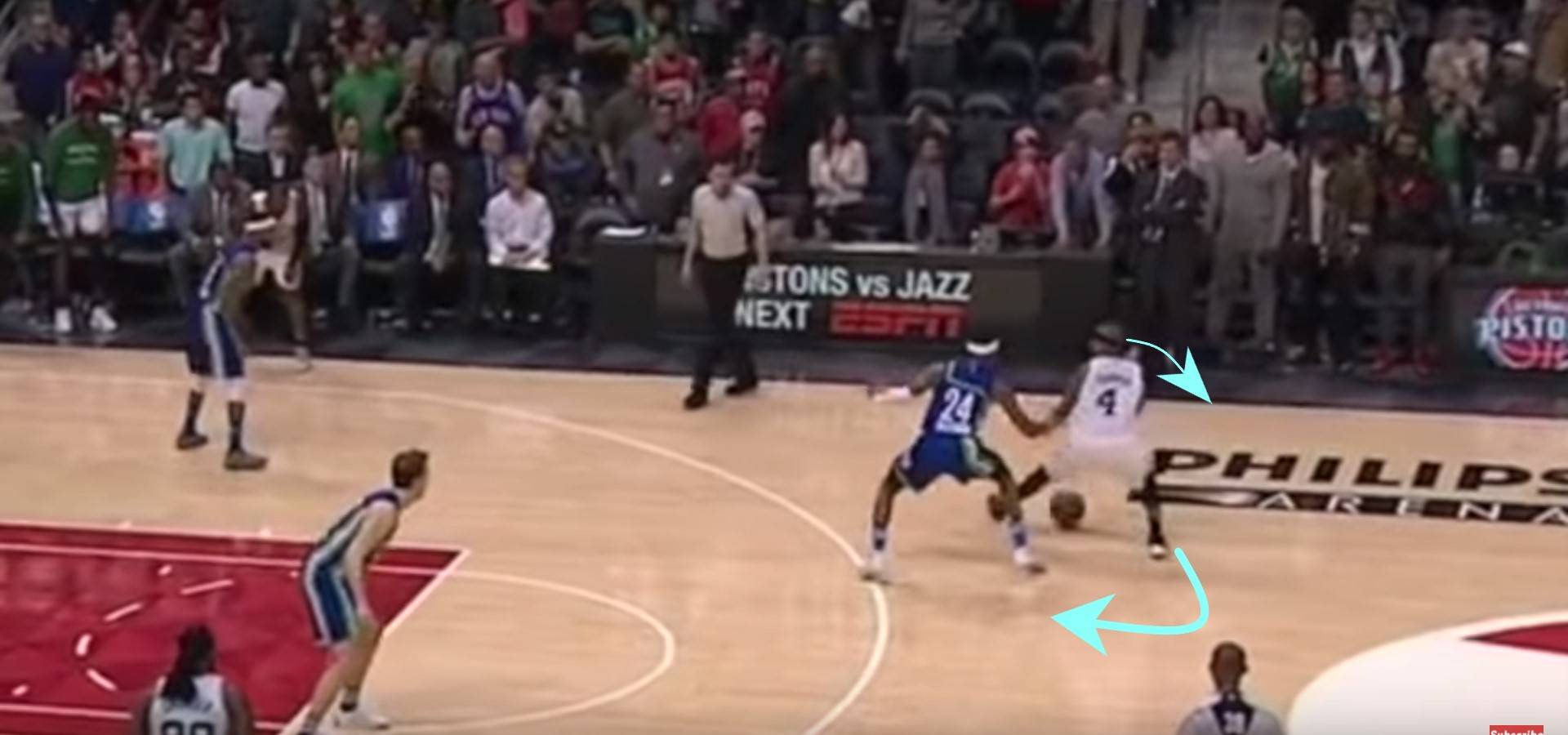 Stop and observe how the defense reacts on your moves