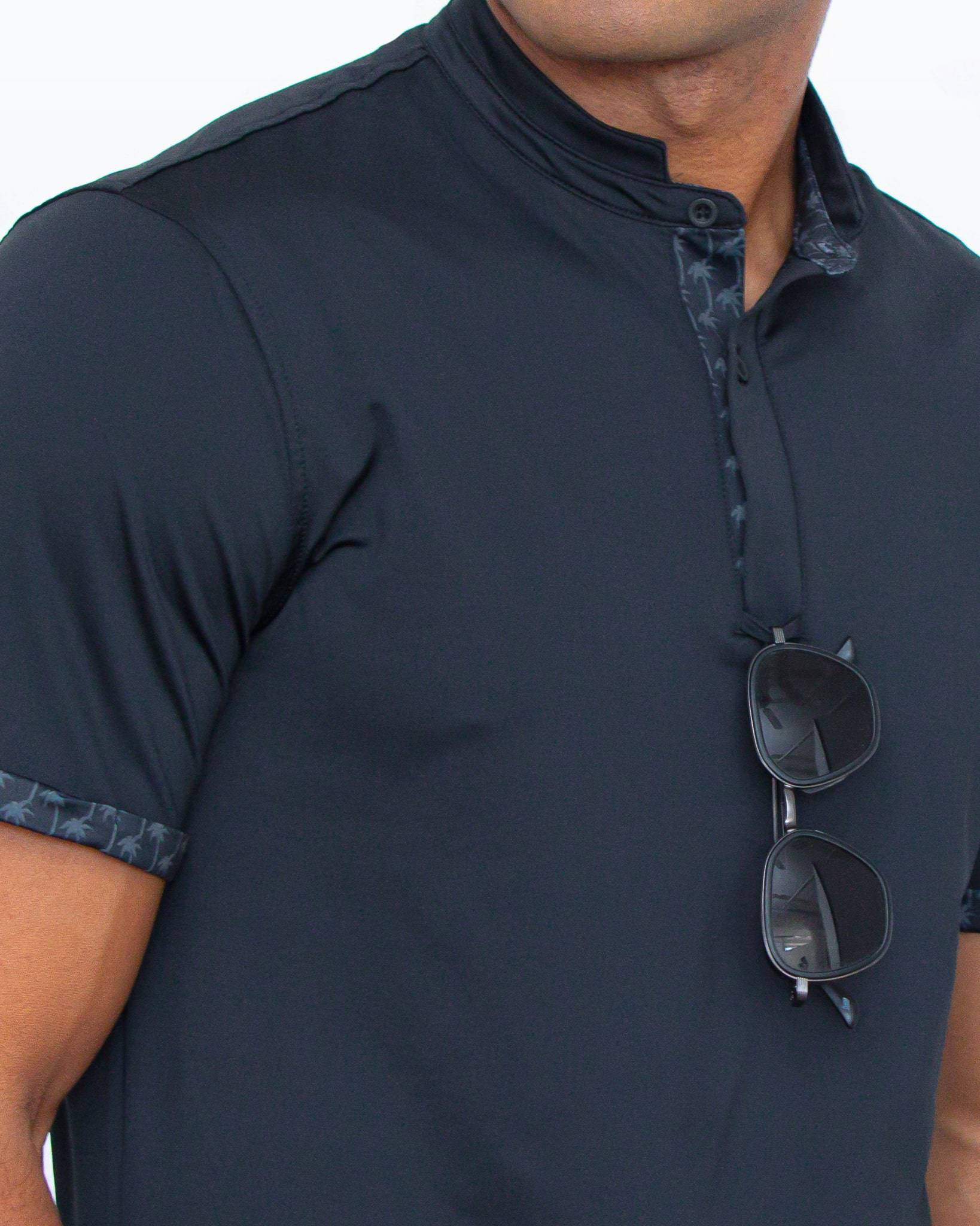 MANTRA Palm Contrast Polo - sustainable mens polo made in the USA from repurposed materials