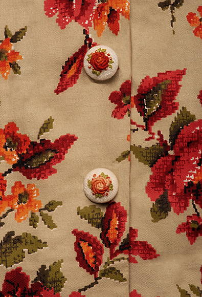 THE BEVERLY IN RED ORANGE FLORAL PRINT
