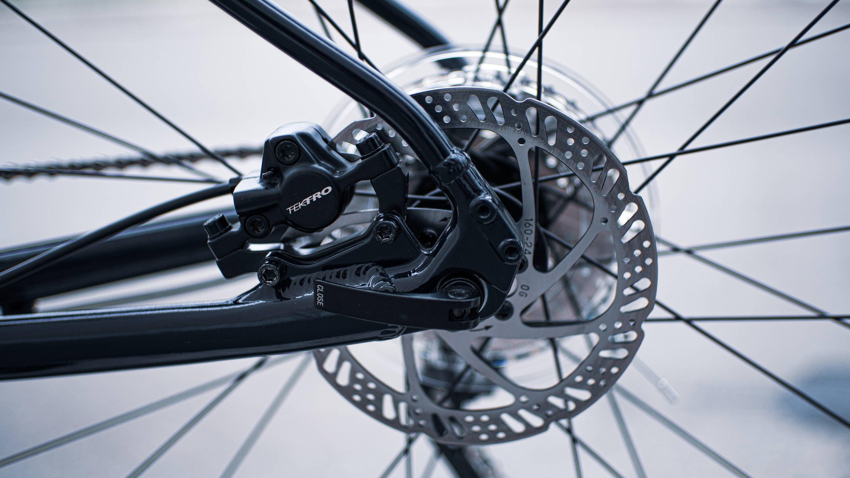 Thru-axle installed on bike