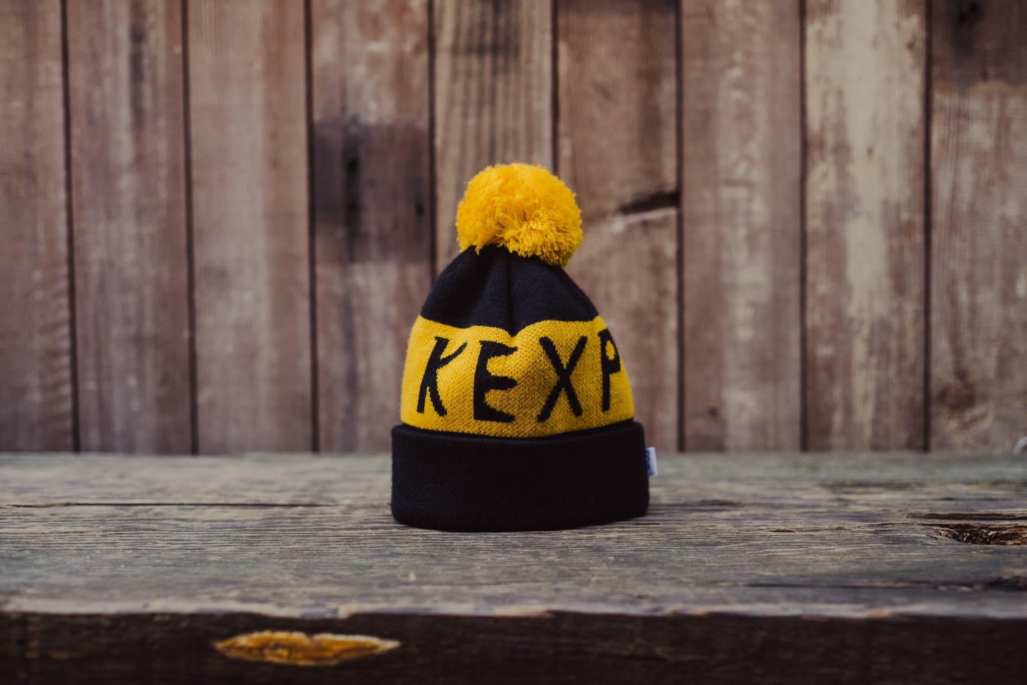 KEXP Custom Pom Pom Beanie