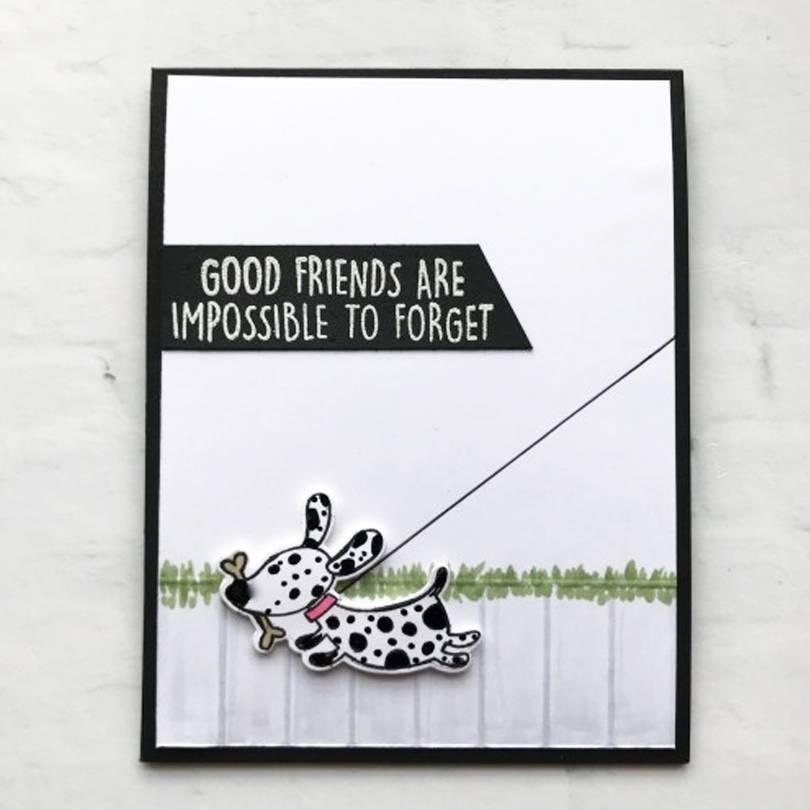 UWF Good Friends card by Laurel Beard