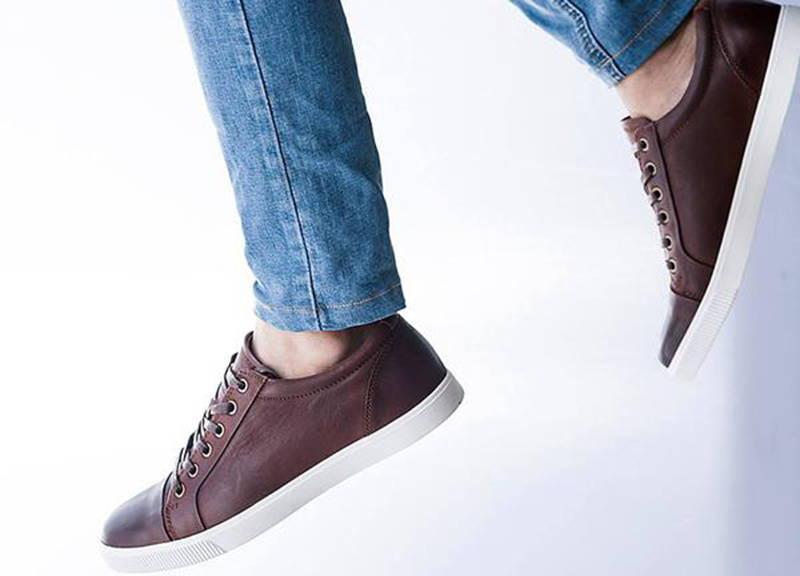 5e9d166cf75 Tomaz C268 Leather Cap-toe Sneakers (Wine) - Tomaz Shoes