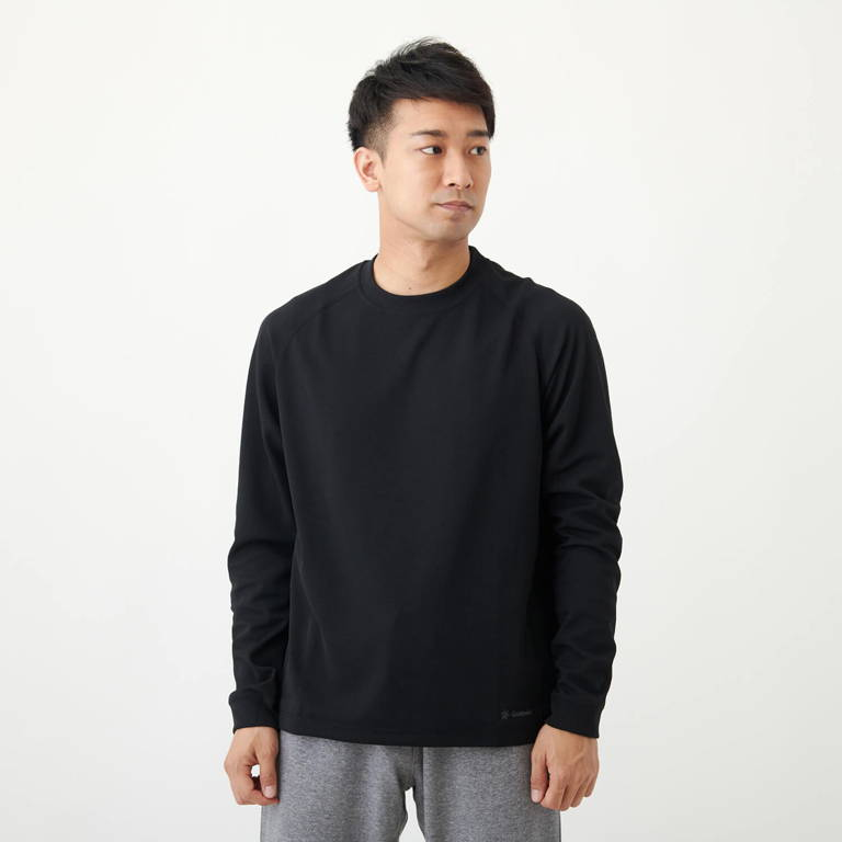 C3fit(シースリーフィット)/リポーズ ロングスリーブTシャツ/ブラック/MENS