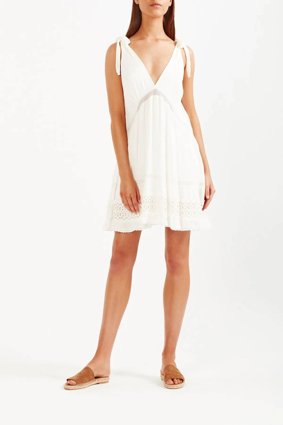 Tigerlily Womens Sofia Mini Dress - White