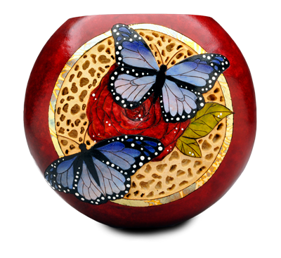 Gourd art by Krystal Garrido