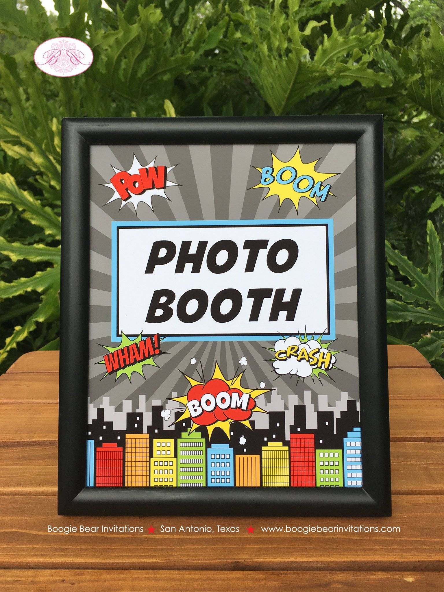 Superhero Max Theme Frameable Poster Sign