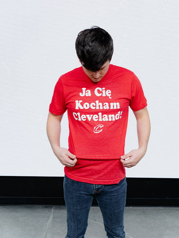 Cleveland Cavaliers I Love You, Cleveland Tee by Homage