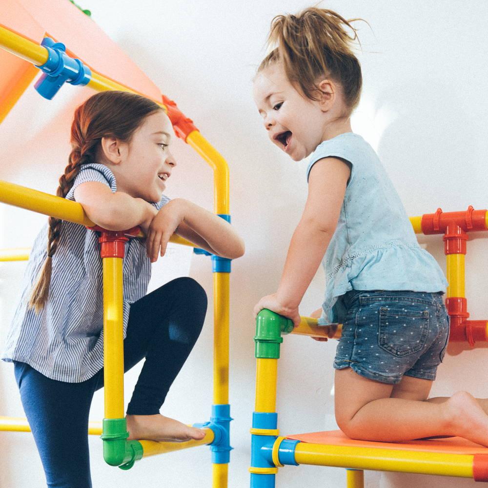 Girls playing on tubelox