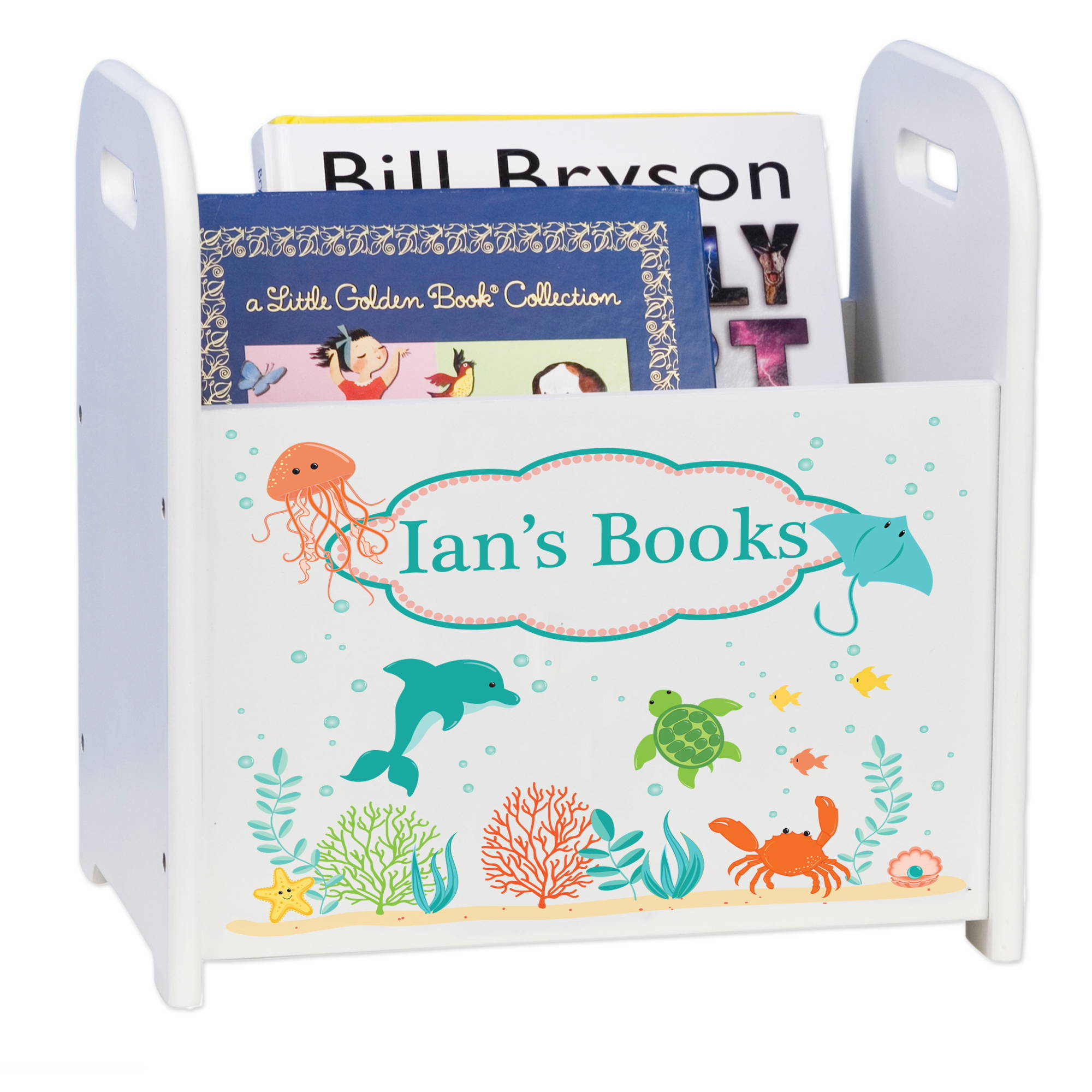 Sealife themed childrens book holder