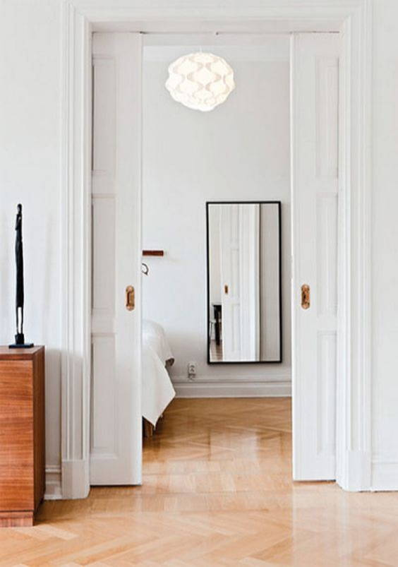 Pocket doors make a small space feel more open