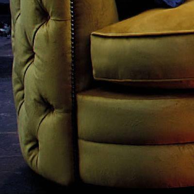 Yellow Fabric Swivel Chair