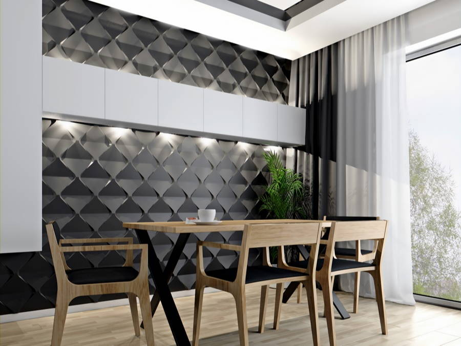 3D Polystyrene Wall Panels