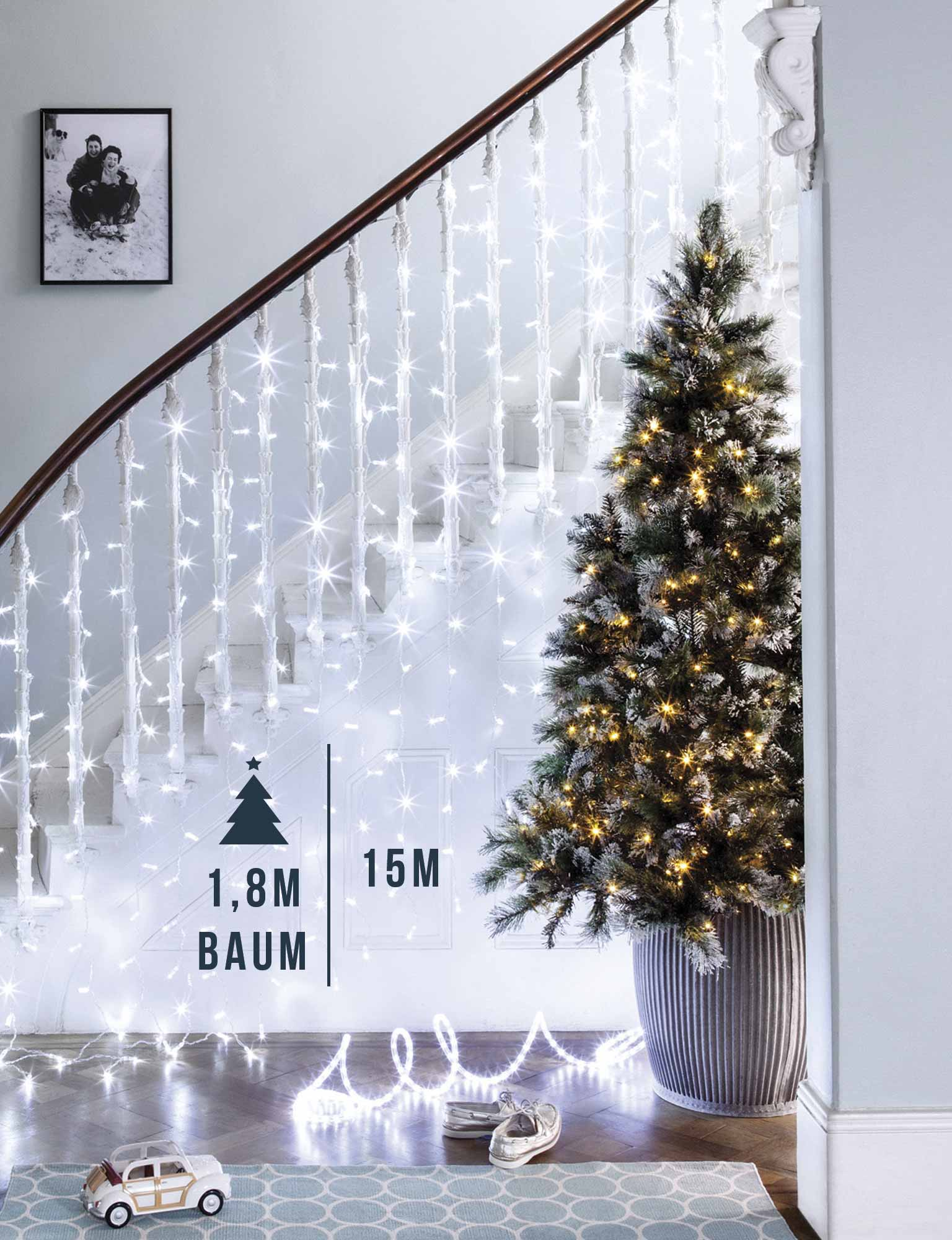 Künstlicher Weihnachtsbaum Außen.Wie Viele Lichter Für Meinen Weihnachtsbaum Lights4fun De
