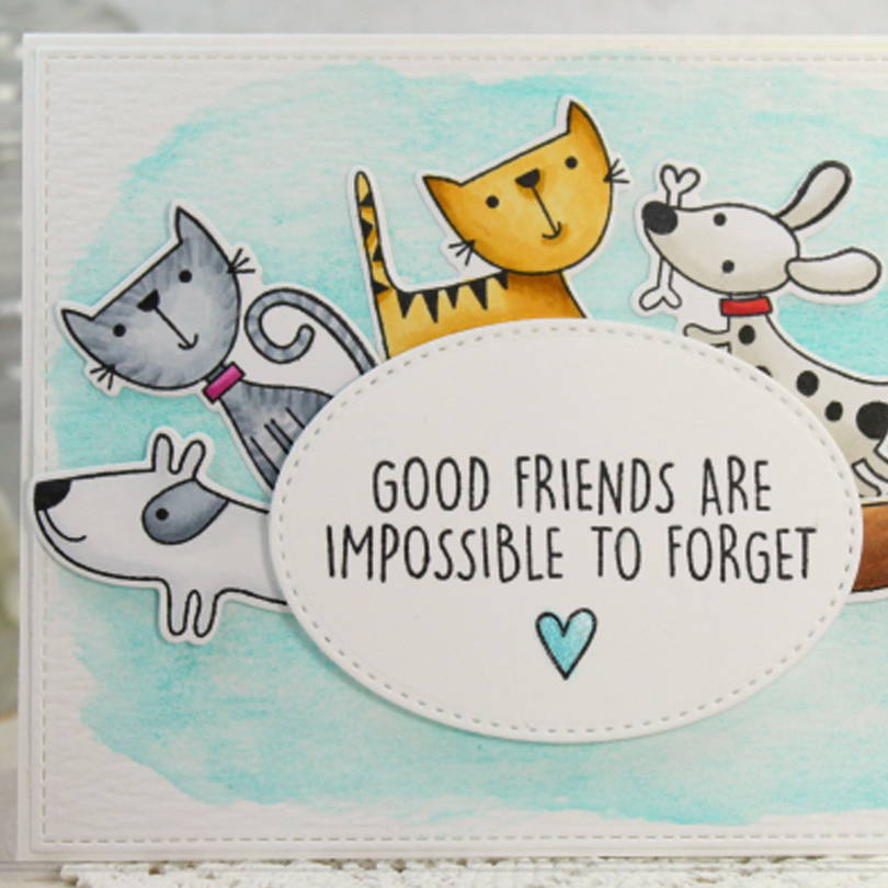 UWF Good Friends card by Sharon Harnist
