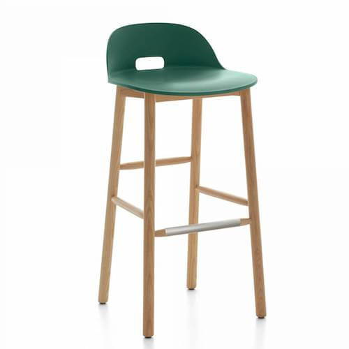 Emeco ALFI Low Back Barstool