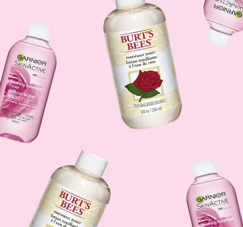 A selection of rosewater toner products