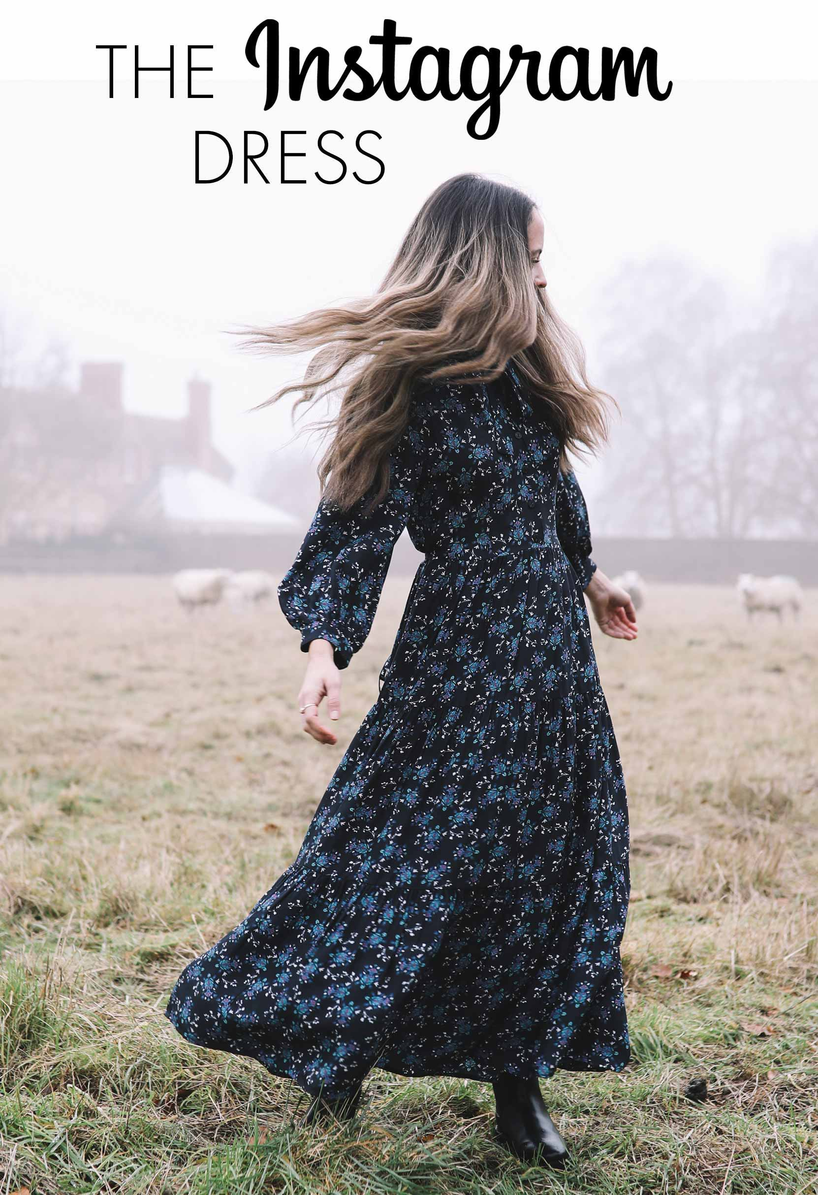 Olivia Tiered Gathered Pussy-Bow maxi Dress - Navy/Cornflower Floral Print