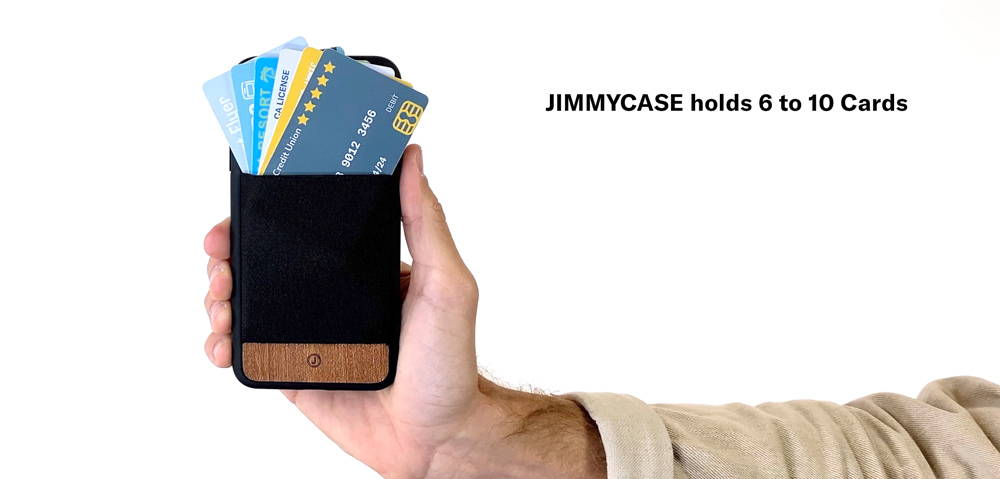 jimmycase iphone wallet case holds 6 to 10 cards