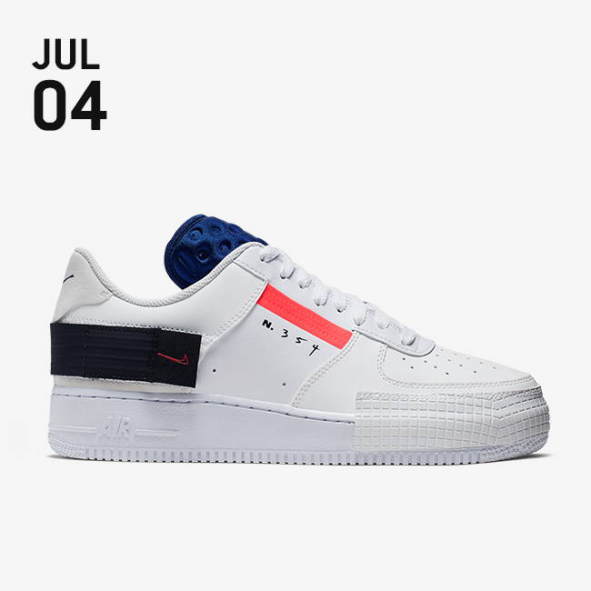 Nike Air Force 1 TypeSummit White Red Orbit White Black