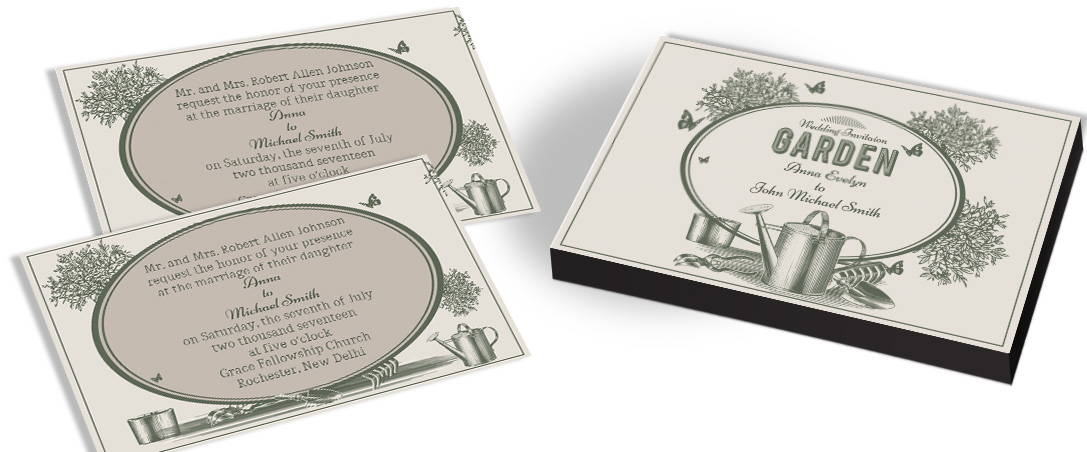 Garden Inspired Wedding Invitation