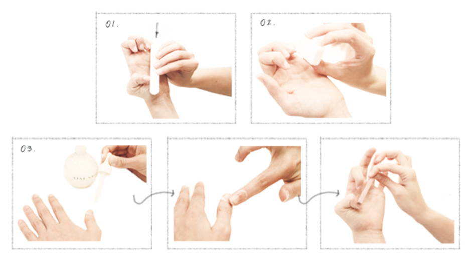 étapes de pose de vernis
